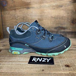 Ahnu Vibram Tread Waterproof Blue Hiking Sneakers